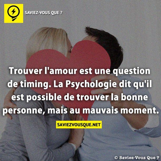 Connu Trouver l'amour est une question de timing. La Psychologie dit qu  EH87