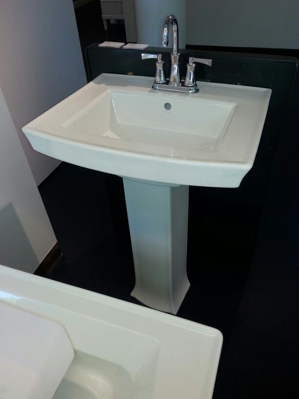 Kohler-Archer pedastal bathroom sink Downstairs bathroom ideas Pi ...