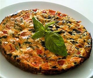 Summertime Frittata With Artichoke, Tomato & Basil Pesto ...