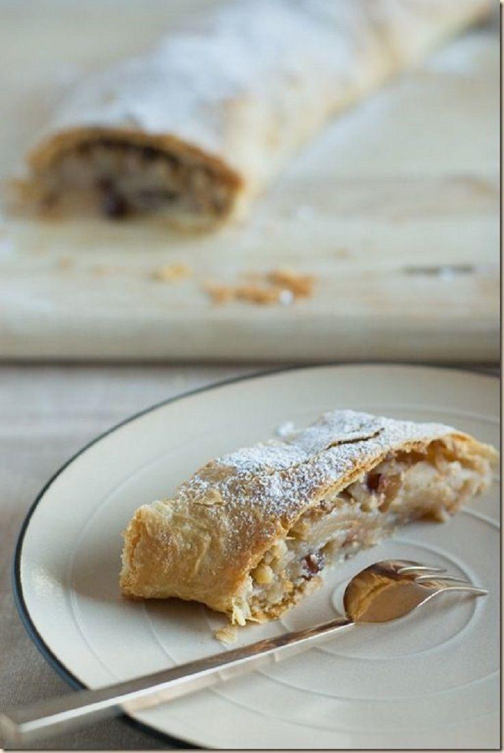 Apple Strudel Recipe | Food Recipes | Pinterest