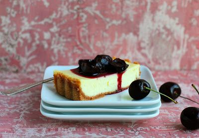 ... Food Advocate: Ricotta and Amaretti Cheesecake with Roasted Cherries