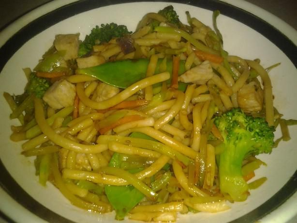 Spaghetti With Garlic, Olive Oil & Green Onion. Good and lower fat.