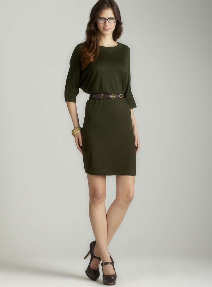 belted sweater dress my style
