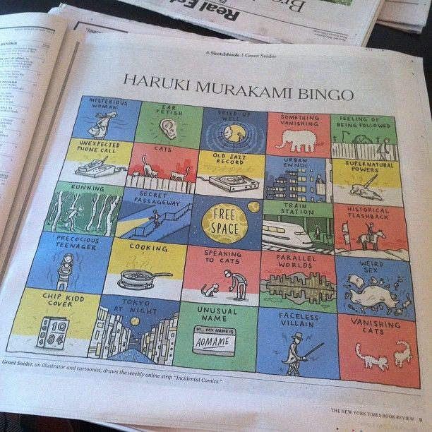 Haruki Murakami Bingo Poster : Ore No Kanojo To