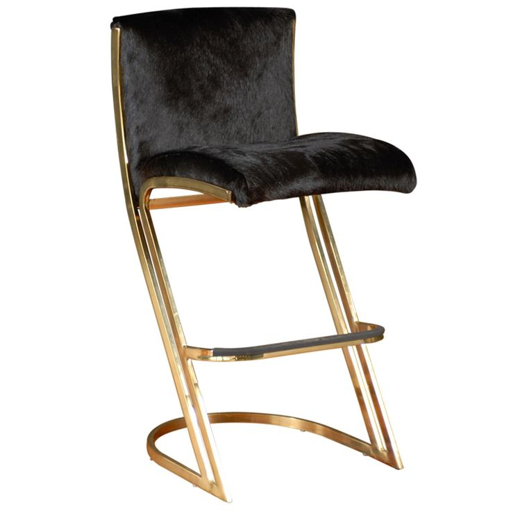Gold And Hide Bar Stools Beautiful Pieces Of Furniture