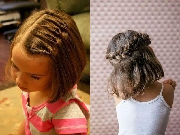 Прически на короткий волос своими руками детям 809