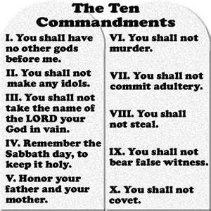 Ten Commandments | Scripture | Pinterest
