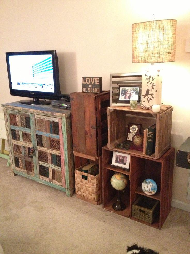 rustic crate bookshelf by furniture alchemy vintage