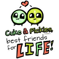 Cuke & Pickles best friends for LIFE. Designed by 10 year old girl ...