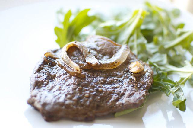 New York Steak with Caramelized Onion & Merlot Sauce | 365+ Gourmet ...