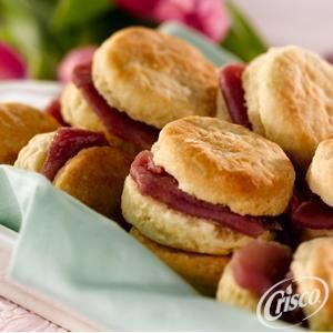 Sour Cream Chive Biscuits with Country Ham from Crisco®