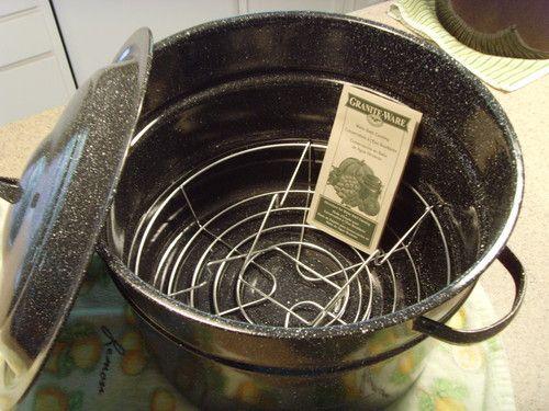 Com granite ware 0707 1 steel porcelain water bath canner with rack
