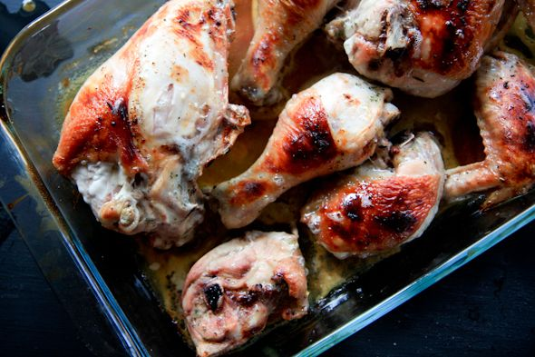Buttermilk roasted chicken with garlic and herbs