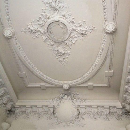 Plaster moulded decorative ceiling  ♔ Plaster Work ♔  Pinterest