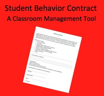 FREE This contract is designed to make students accountable or their actions in the classroom.  When they have repeated problems in class, students must...