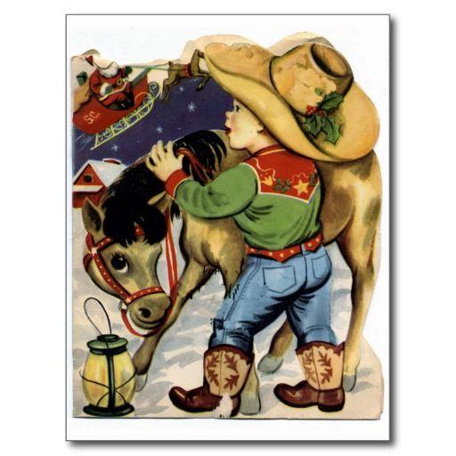Cowboy Christmas Post Cards: pinterest.com/pin/385761524305967962
