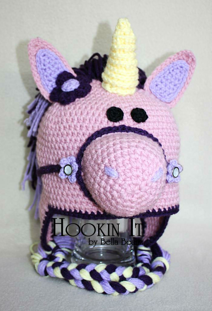 Crochet Pattern For A Unicorn Hat : Crocheted Unicorn Hat Crochet Hats Pinterest