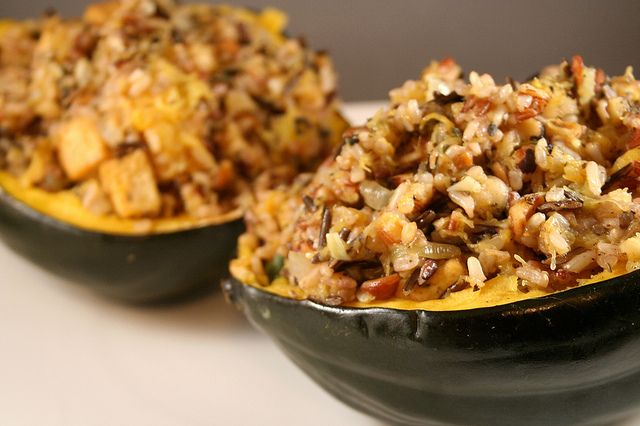 Tofu, Wild Rice and Hazelnut Stuffed Acorn Squash by Tasty Yummies ...