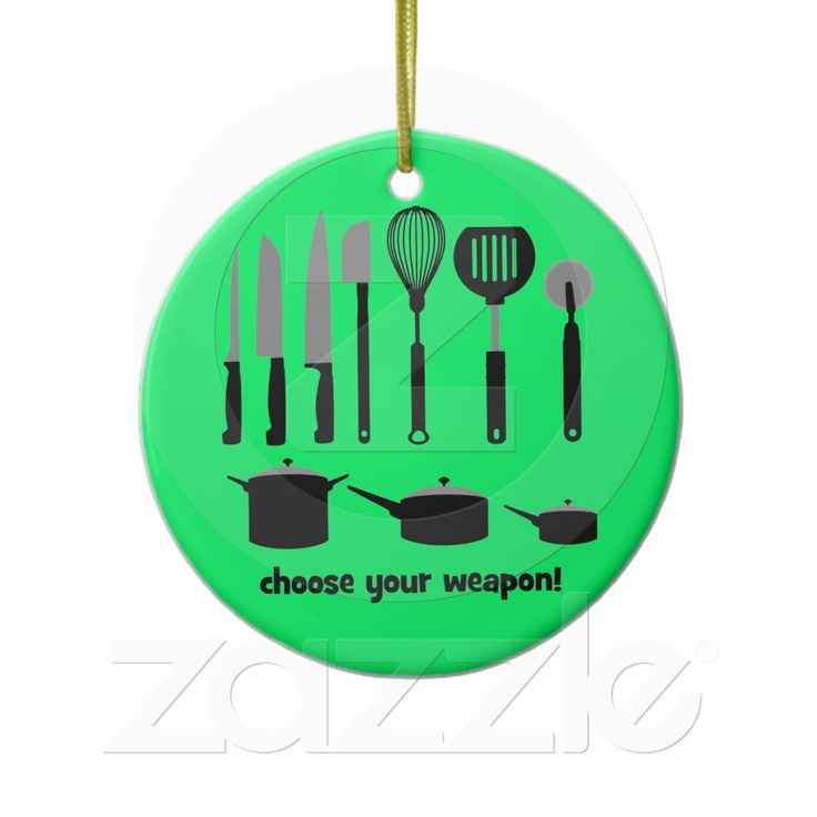 Choose your weapon ornament from zazzle com