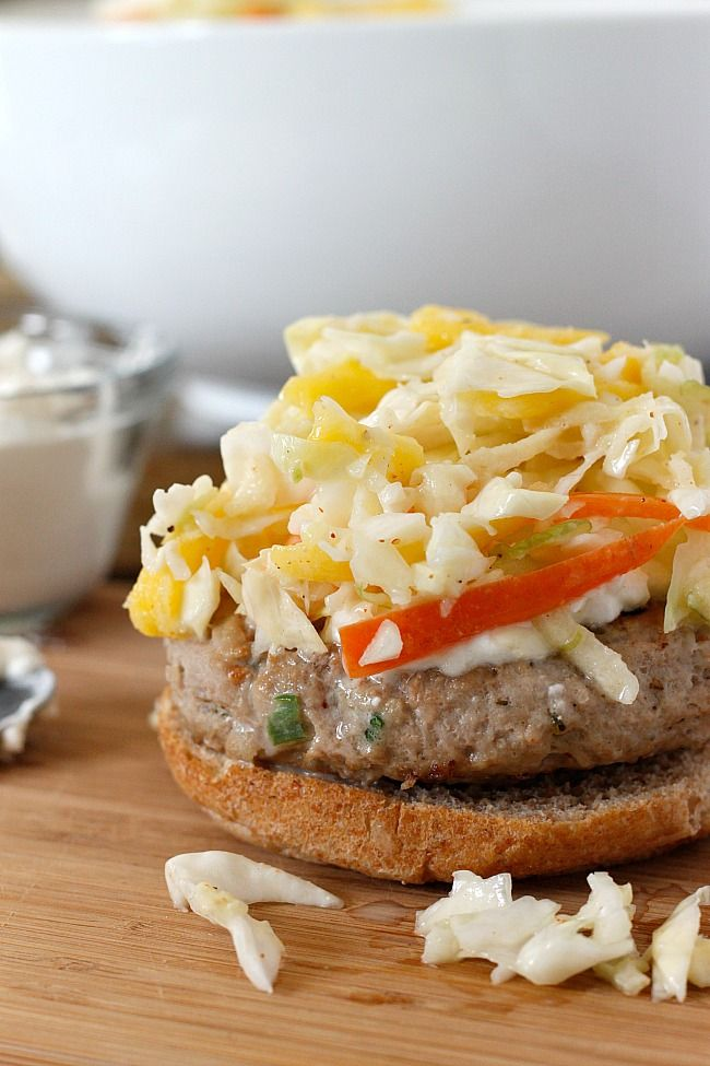 Jerk Turkey Burgers, topped with Tangy, Creamy Feta, and a Cool, Crisp ...