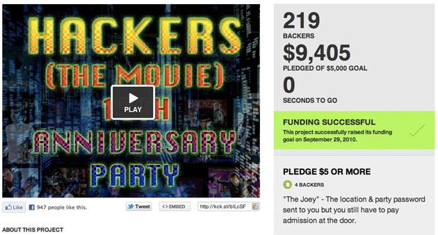Kickstarter Tips  Curate a money magnet with these handy tips. Screenshot of a successfully funded Kickstarter project/Kickstarter.com