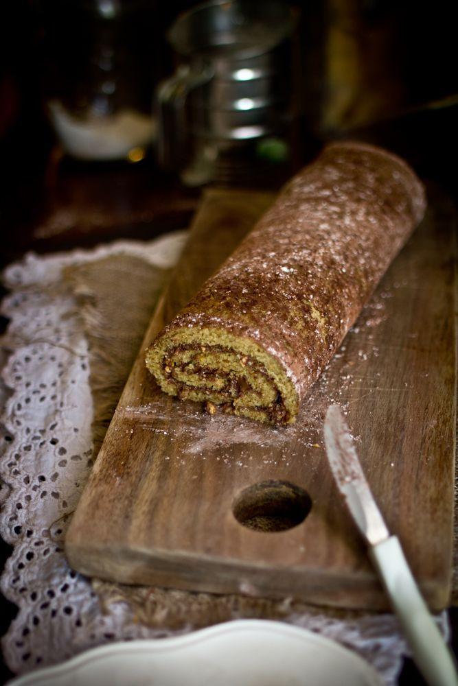 Roasted Hazelnut Nutella Roulade | Sweet Treats | Pinterest