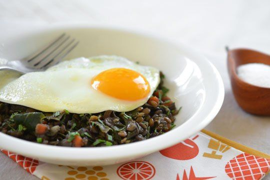 Weeknight Recipe: Braised Lentils and Chard Topped with an Egg ...