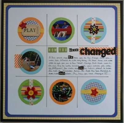 """""""How You Have Changed"""" by Gena, as seen in the Club CK Idea Galleries. #scrapbook #scrapbooking #creatingkeepsakes"""