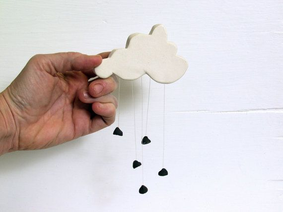 Chocolate Chip Rain Cloud. Fired Ceramic Cloud by AcmeArtCompany, $32 ...