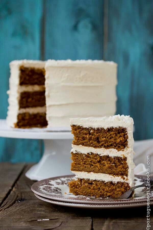 Spice cake with eggnog buttercream   Cakes / Cup Cake Board   Pintere ...