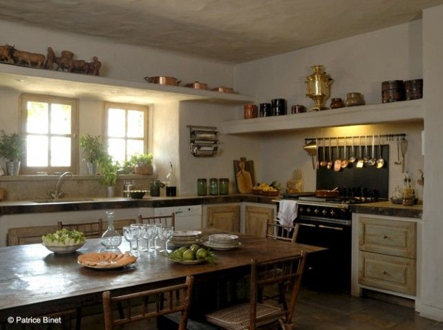 Cuisine campagne bois window sill home Pinterest