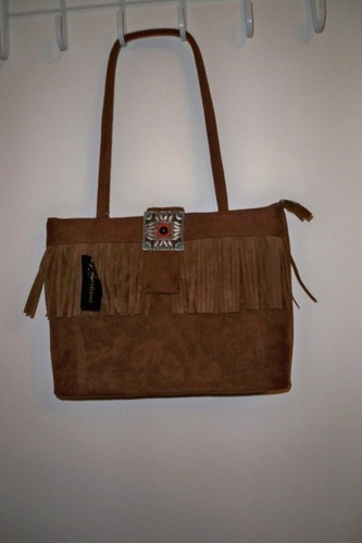 Brown Fringe Handbag
