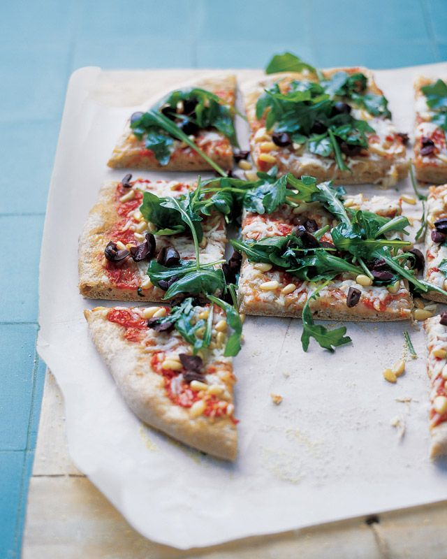 repeat. Awesome. Veggie-covered Greek pizza with a healthy whole-wheat ...