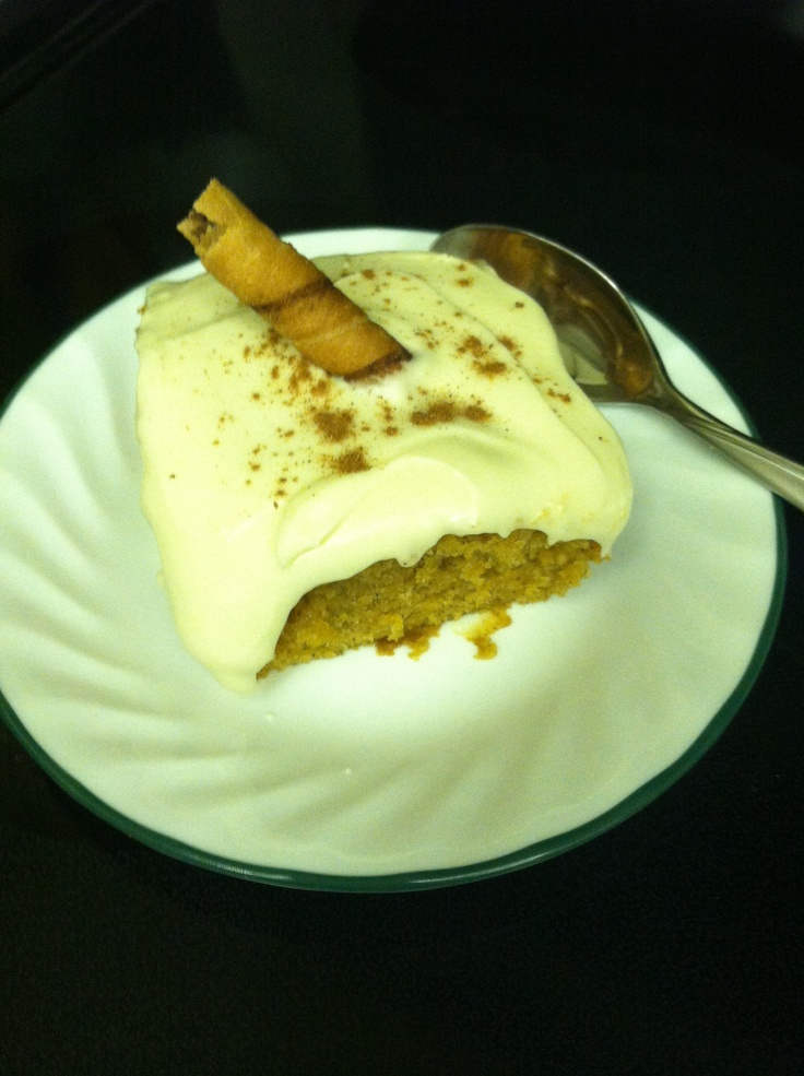... Frosting http://m.allrecipes.com/recipe/11646/pauls-pumpkin-bars