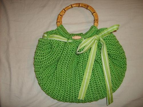 Crochet Bag Bottom : Crocheted Apple Green Fat Bottom Bag Crochet fbb Pinterest
