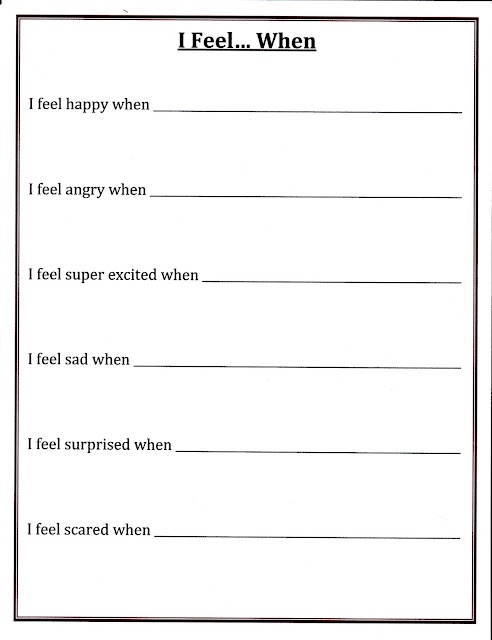 ... And Emotions Worksheets on managing emotions worksheets for adults