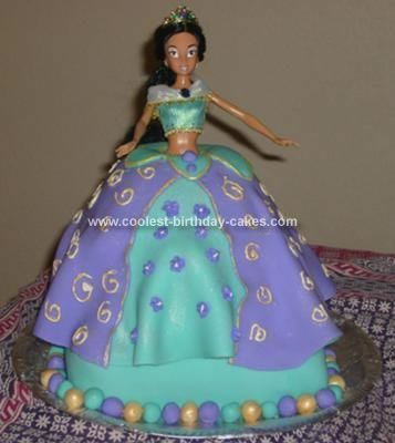 Homemade Princess Jasmine Birthday Cake... This website is the Pinterest of princess cake ideas