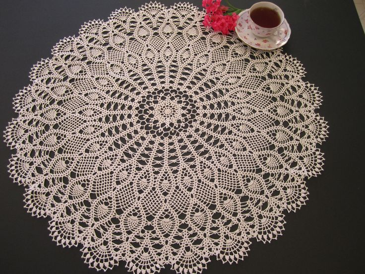 Free Crochet Patterns Round Table Toppers : Lace table topper crocheted doily My crocheted doilies ...