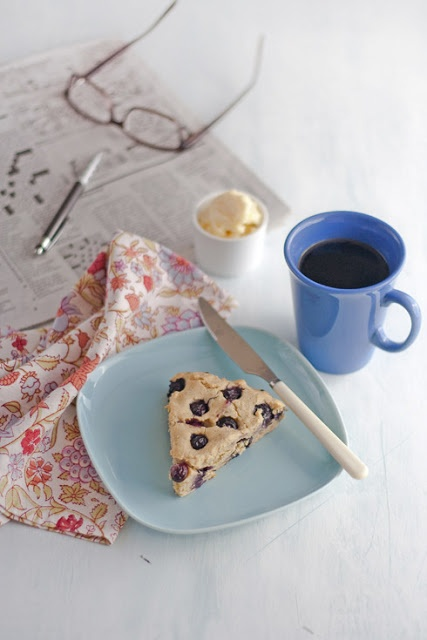 Gluten free blueberry scone with coffee | Recipe Box | Pinterest