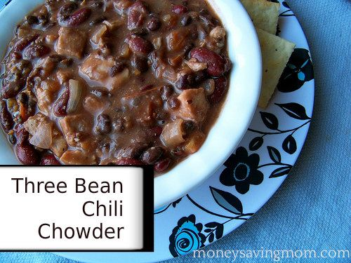 Three Bean Chili Chowder: Warm and hearty for winter, this recipe is ...