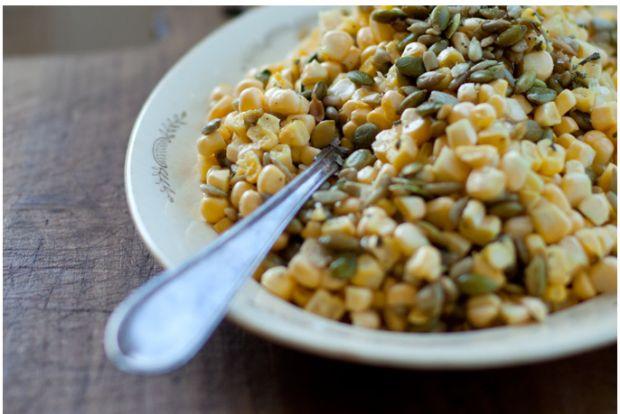 corn pepita salad | Fresh from the Garden | Pinterest
