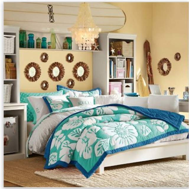 Yellow And Turquoise Room Bedroom Inspiration Pinterest