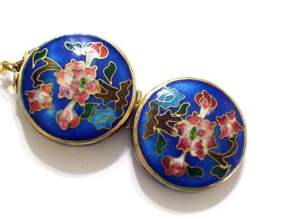 Rare Vintage Asian Chinese Floral Locket Round by LoveLockets, %2464.00
