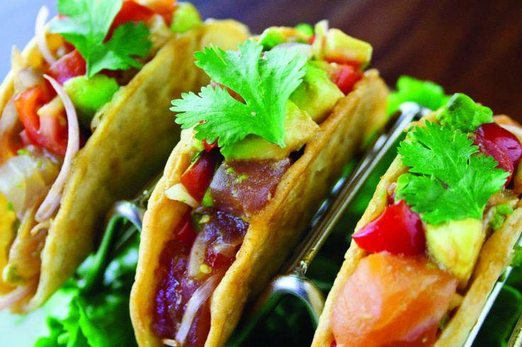 Trio of Fish Tacos | Tuna, salmon and tilapia with avocado ...