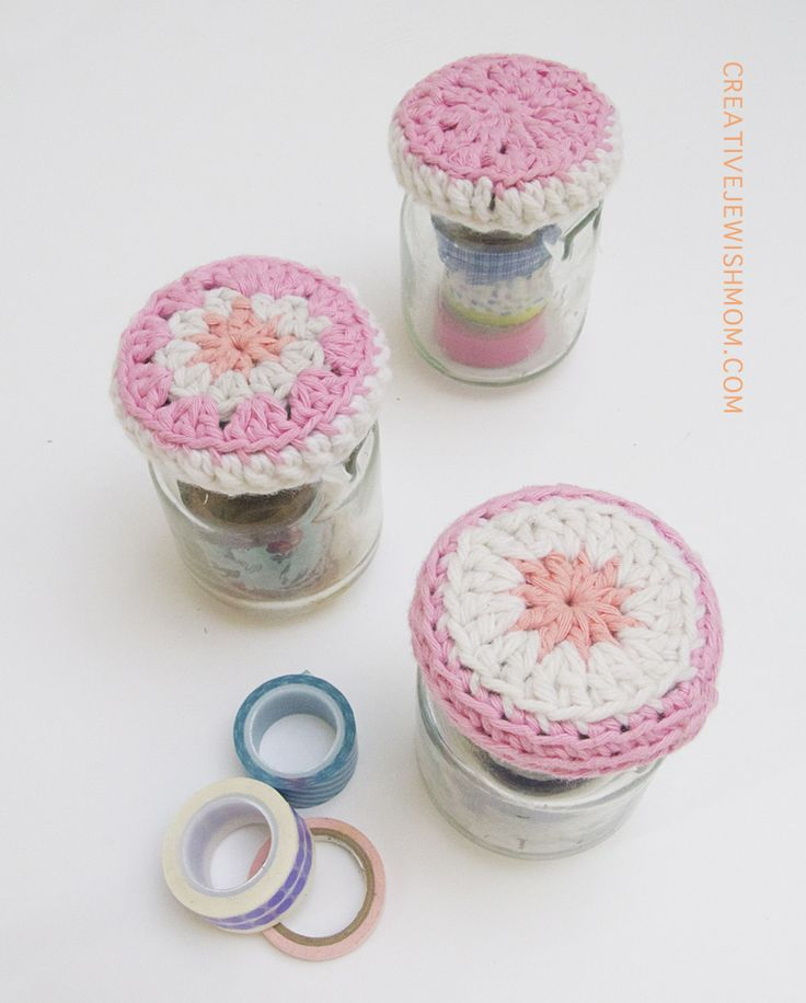 Jar Toppers ~ free pattern ? Crochet Pinterest