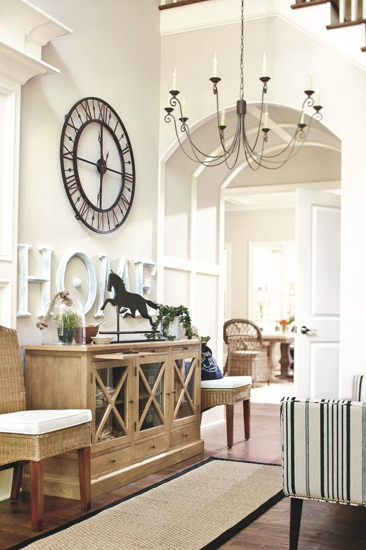 Large Clock In Foyer : Ballarddesigns rustic foyer decor living space