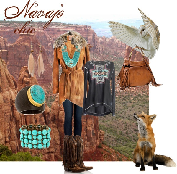 """DDR- Call of the Wild- Navajo Chic- Fall 2012"" by doubledranch ❤ liked on Polyvore"