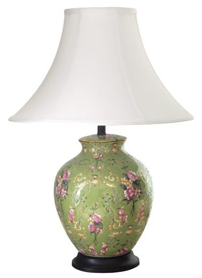 green and pink lamp