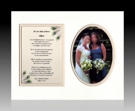Gift Ideas For Bride And Groom From Maid Of Honor : ... Wedding Maid Matron of Honor Personalized Gift Bride Groom br
