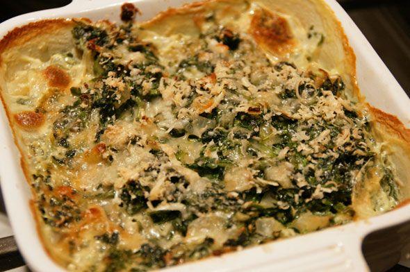 Zucchini And Spinach Gratin Recipe — Dishmaps